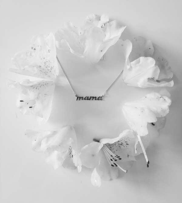 naszyjnik srebrny mama